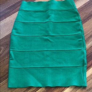 Dresses & Skirts - Bright Kelly green bandage skirt size small